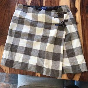 Pendleton Cream and Brown Skirt